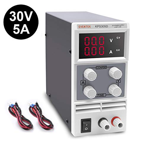 Eventek KPS305D Adjustable DC Switching Power Supply 0-30V 0-5A