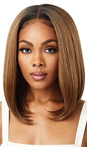 Outre Perfect Hairline Fully Hand Tied 13 X 4 Lace Wig HD Transparent lace NO Plucking Required DANNITA (DR2/GIBRN)