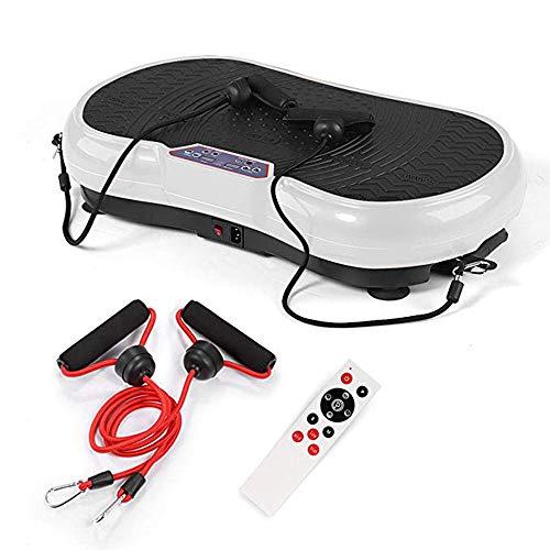 Topashe Plataforma Vibratoria Ultra Slim,Máquina de Adelgazamiento Bluetooth, Shaker-White Body Shaker,Vibratoria Máquina de Ejercicio