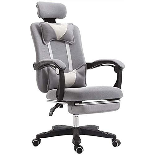 WJMLS Volver Silla del masaje con reposapiés juego, ordenador PC del videojuego de carreras for sillas de respaldo alto reclinable Gamer ergonómico Ejecutivo Escritorio Silla de oficina con el amortig