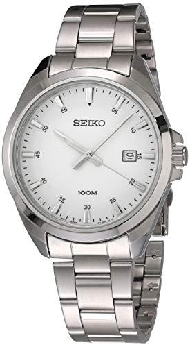 Orologio Seiko Unisex Acciaio Quadrante Bianco SUR205P1
