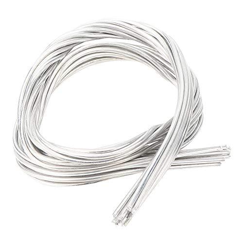 Oumefar 10 Stück Schweißkerndraht Aluminium-Schweißstab Verbrauchsmaterial Löten Schweißstäbe Niedrige Temperatur zum Löten
