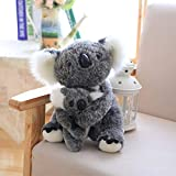 Decanyue 28cm Cute Sitting Mother and Baby Koalas Plush Toys Peluches Koalas Dolls Kids Toys Soft Pillow Lovely Birthday Gift 28CM Gray