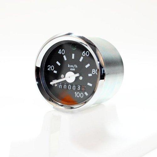 Tachometer mit Chromring, ø60mm (100 km/h) Simson S51, S53, S70