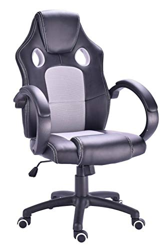 Millhouse New Designed Racing Sport Swivel Office Gaming Chair X2710S (SilverGrey-Black)