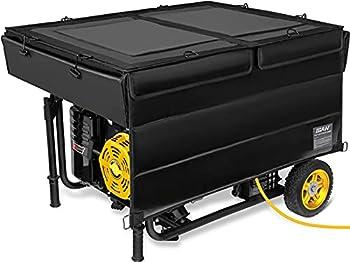 IGAN Generator Tent Running Cover Ultra Heavy Duty Tarpaulin Enclosure Portable All-Weather Generator Rain Shelter for Most 3500w-12000w generators Black-1