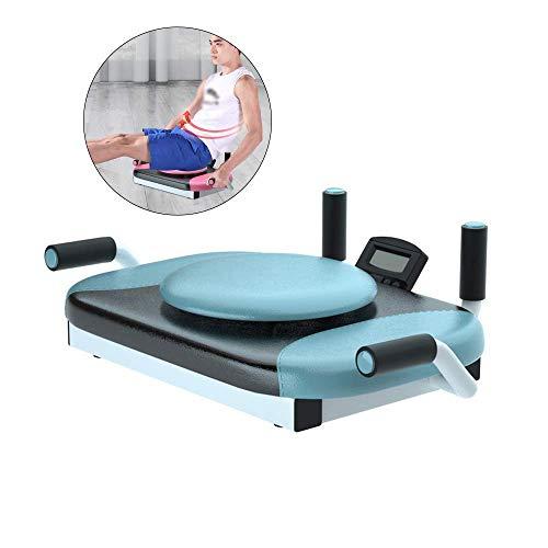 ZY Soporte Plana Equipo de la Aptitud Hogar Multifuncional portátil Rodilla Flexión Abdominal Twister Trainer con Temporizador LOLDF1 (Color : Blue)