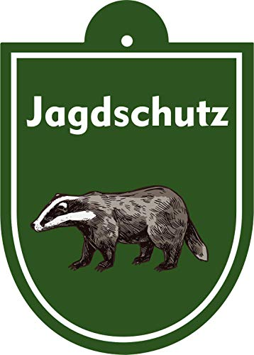 Saugnapfschild Jagd verschiedene Motive (Jagdschutz Dachs)