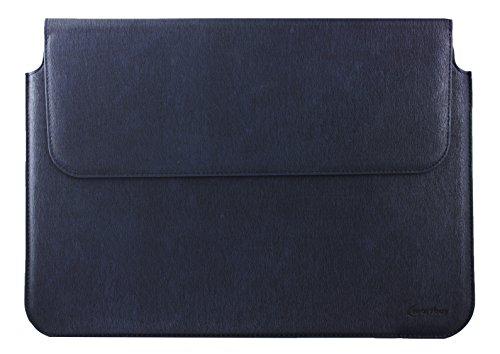 Emartbuy® Wortmann Terra Pad 1161 Pro Tablet with Keyboard 11.6 Zoll Navy Blau Premium PU Leder Magnetisches Kasten Folio Mappen Kasten Abdeckung Hülse (11.6 to 13.3 Zoll)