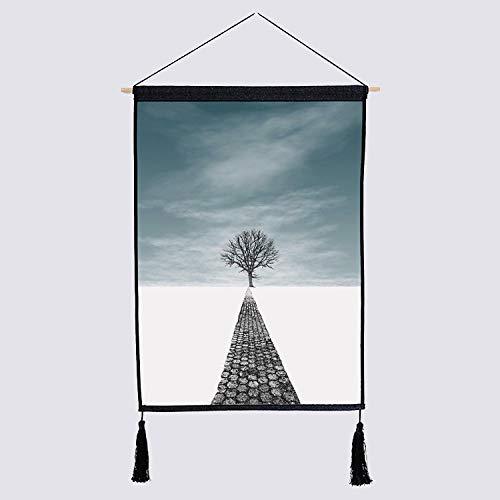 liuweixiong Nordic tapijt mode eenvoudige achtergrond muur plant achtergrond katoenen linnen doek meter doos schilderij 450mmx650mm 1