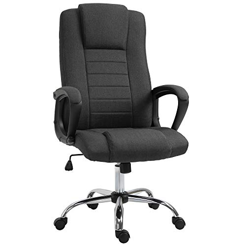Vinsetto High Back 360° Swivel Executive Computer Office Chair with Adjustable Height & Comfort Tilt Function, Black