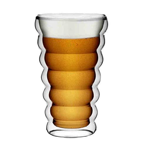 Erjialiu 350Ml dubbel glas mok draad bier glas melk koffie kopje sap Cup Bar speciale