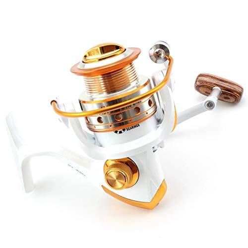 Nueva pesca12 + 1BB Tecnología Alemana 1000-7000 Series Full Metal Slide Hot Carpa Cebo Alambre Inducido Spinning Scroll HUANH (Color : 4000 Series)