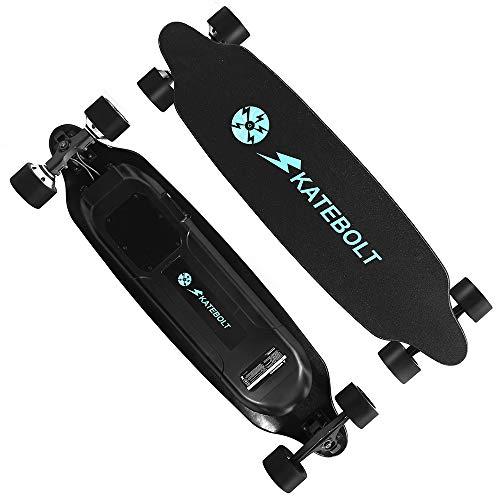 SKATEBOLT Tornado Skateboard électrique avec télécommande, 36-40 km/h en Vitesse de Pointe,maximale de 25-30km...