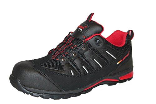 Gevavi Safety GS3300430 GS33 - Scarpe antinfortunistiche semi-alte, S1P, 43, colore: Nero