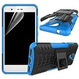 betterfon | Funda híbrida para teléfono móvil para ZTE Blade L5 / L5 Plus, color azul