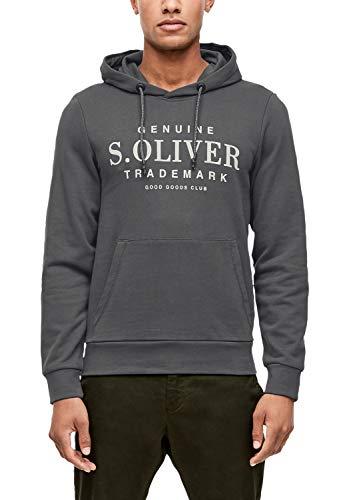 s.Oliver Herren 13.909.41.5228 Sweatshirt, Grau (Ebony 9827), Medium (Herstellergröße: M)