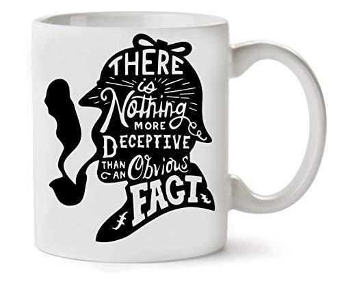 Wicked Design Sherlock Holmes Typography Quote Taza para Café y Té