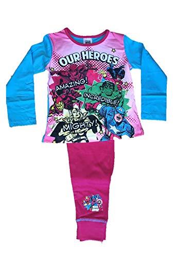 Schlafanzüge Kinder Offizielle Mädchen Marvel Comics Superheld Pyjama - Unser Helden, EU 104-110
