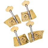 Baosity 4pcs 2R2L Upright Double Bass Tuning Pegs Machine Heads for Double Bass Players - as described, 4/4-3/4