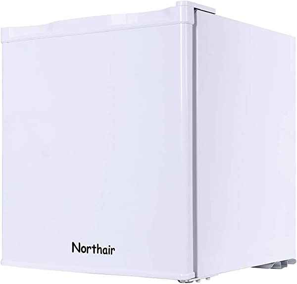 Northair Compact Refrigerator 1 6 Cu Ft 46L No Noise Hotel Room Beverage Freezer With Single Reversible Door Portable RV Apartment Office Minibar Fridge For Fruit Breast Milk Medicine Cosmetics