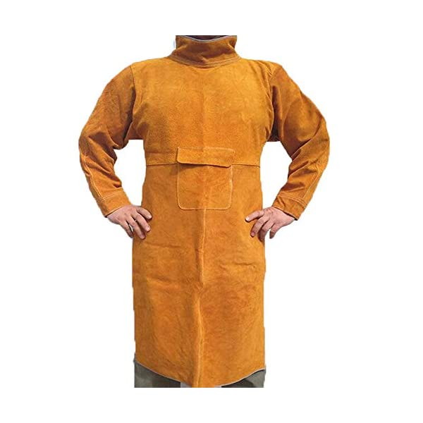 Jewboer Leather Welding Apron Jacket 1