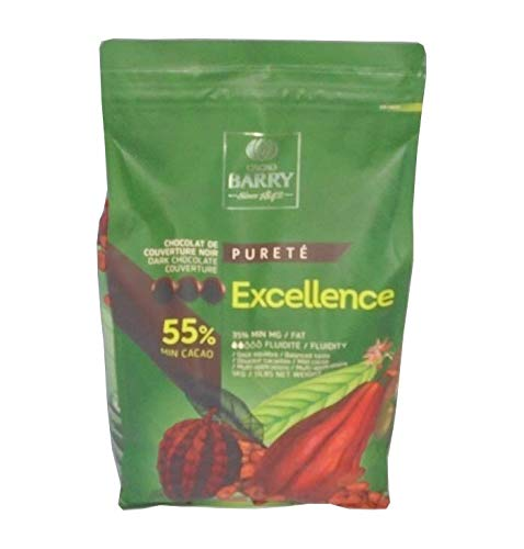 Excellence Cacao Barry Pure Noir Pastillas de Kakao Cocoa, 5 kg