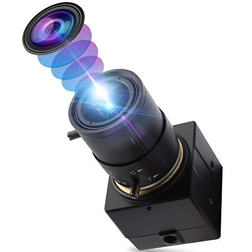 Mermaid 2,8-12 mm Varioobjektiv USB-Kamera Hochfps VGA 100 fps USB mit Kamera 1080P USB-Webkamera CS-Mount, 2MP HD-Webkamera mit CMOS OV2710 Sensor-Webkameras UVC für Linux Windows-Webkonferenzkamera