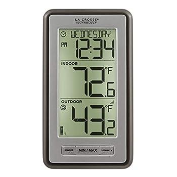 La Crosse Technology Indoor Or Outdoor Temperature WS-9160U-IT Digital Thermometer 1 Pack Titanium