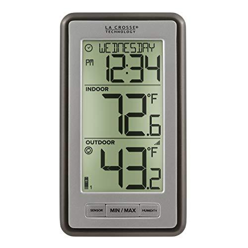 La Crosse Technology Indoor Or Outdoor Temperature WS-9160U-IT Digital Thermometer, 1 Pack, Titanium