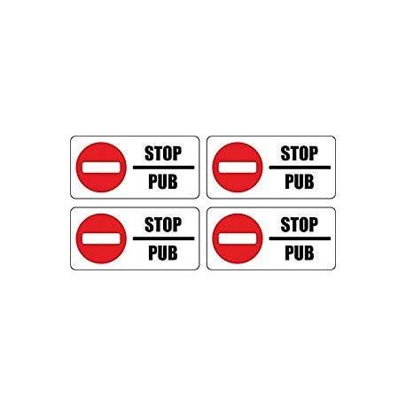 Bearn Stop Pub Reclame, zelfklevend, Logo 7933 stickers, brievenbus, geen reclame