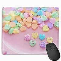 マウスパッド オフィス最適 お菓子 飴 ハート形 カラフル ゲーミング 防水性 耐久性 滑り止め 多機能 標準サイズ25cm×30cm