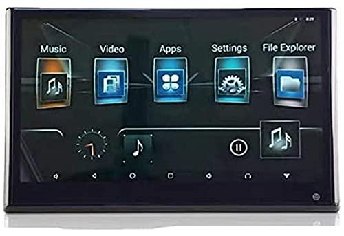 LYHY Reproductor de DVD con Soporte para reposacabezas de Coche de 12,5 Pulgadas, Sistema de Entretenimiento Trasero Android 9,0, Pantalla táctil de Estructura capacitiva