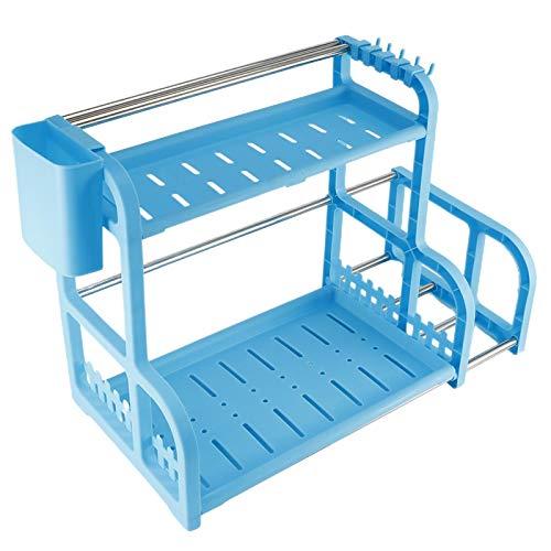 BOLORAMO Estante de 2 Capas, Organizador de Especias Diseño fácil de Limpiar y Antideslizante para almacenar Especias y Alimentos