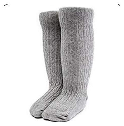 ZHEMAIE Calcetines para niños nuevos de primavera y verano para niñas de algodón hasta la rodilla, color caramelo sólido, calcetines cortos de doble aguja para niños (color: gris, tamaño: 1 a 3 años)