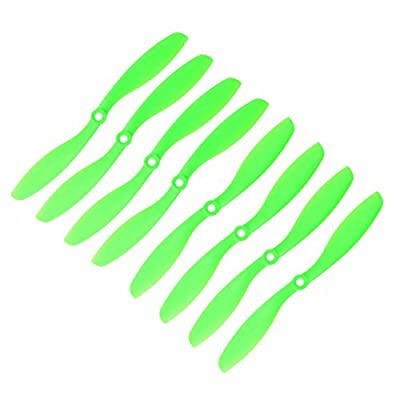 RAYCorp Genuine Gemfan 8045 (8x4.5) Propellers 8 Pieces(4CW, 4CCW) Green 8-inch Quadcopters & Mutlirotors Props Battery Strap by RAYCorp