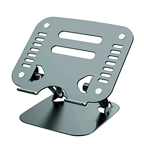 Laptop Stand, Lightweight Laptop Cooling Stand Vertical Foldable Tablet Stand Bracket Laptop Holder, for MacBook,Gray
