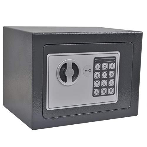 Tidyard Cajas Fuertes convencionales Cajas Fuertes empotrables Caja Fuerte Seguridad Safe Caja Fuerte Digital electrónica 23x17x17 cm 1#