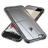 【ONES】 iPhone 6s/6 ケース 半透明·黒 耐衝撃 超軍用規格 『エアバッグ、半密閉音室、Qi充電』〔滑り止め、すり傷防止、柔軟〕〔美しい、光沢感、軽·薄〕 衝撃吸収 HQ·TPU 高級感 カバー