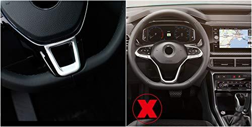 Interieur Lenkrad Dekor ABS Kunststoff Matt für Transporter T6 / Passat B8 / T-Roc / Tiguan 2 / Golf 7 Mk7 / T-Cross (Nicht für R-Line)