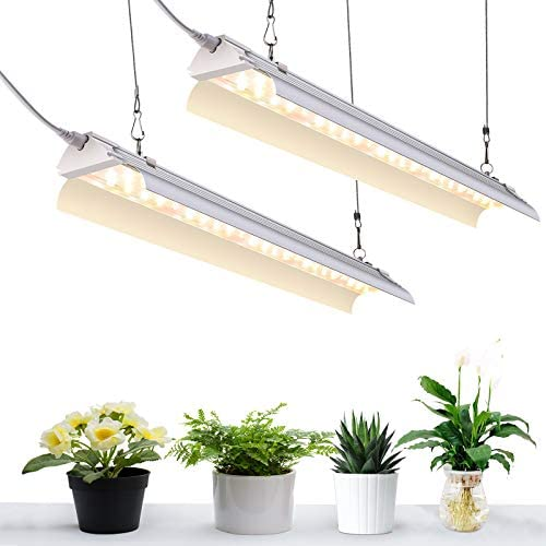 SZHLUX LED Grow Light for Indoor Plants 2FT 80W 2 40W 600W Equivalent Full Spectrum Sunlight product image