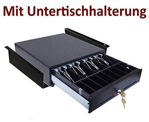 Kassenschublade iQCash330 mit Montagehalterung RJ12/RJ11 33x34,5x10cm, Geldschublade Geldlade