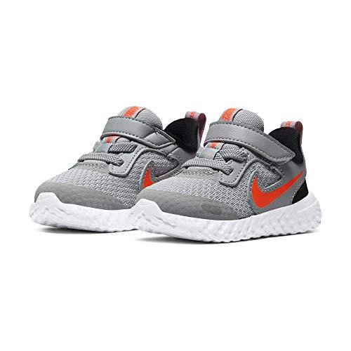 Nike Revolution 5 (TDV), Zapatillas Deportivas Unisex niños, Smoke Grey Orange, 17 EU