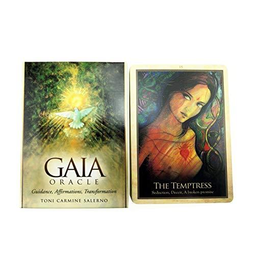XIEBA Tarotkarten-Set, Gaia Oracle Tarotkarten Guidance Divination Fate Deck Tischspiel Spielkarten-Brettspiele