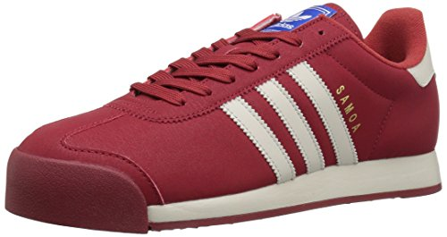adidas Originals Men's Samoa Retro Sneaker Running Shoe, Mystery Red Talc Satellite, (11 M US)