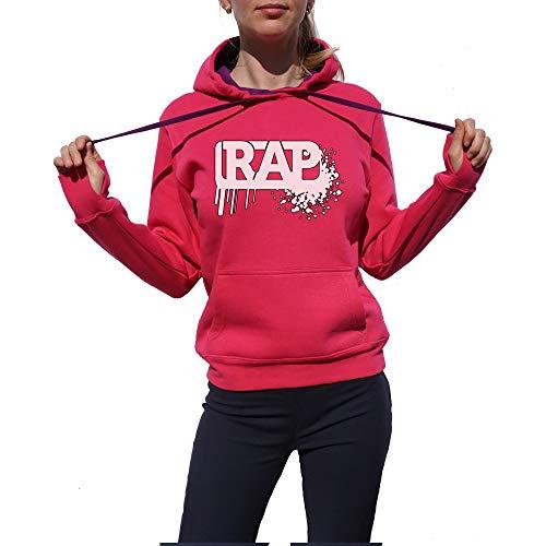 Wild Soul Tees, Pullover Hoodie, Splash Ink Rap Music Design | Série de Musique | Graphisme | Logo | Vêtements | Ligne de vêtements - Rose - Small