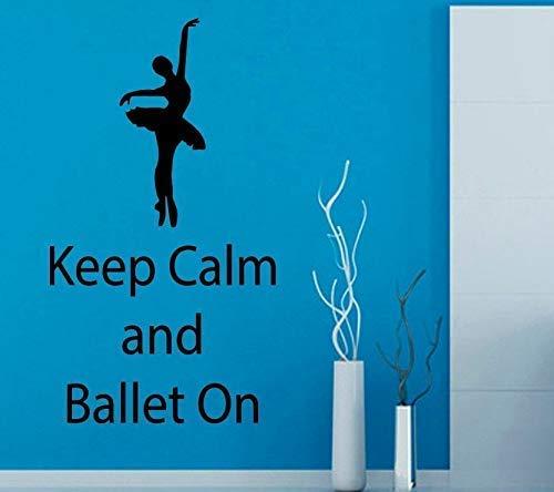 Wandtattoo Halten Sie Muschel und Ballett auf Raumdekoration Vinyl Girl Dance Beauty Schablonen für Wände Repetable 57X32Cm