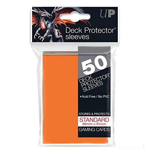 Ultra Pro - 330480 - Jeu De Cartes - Housse De Protection - Orange - 50 Pièces - D12