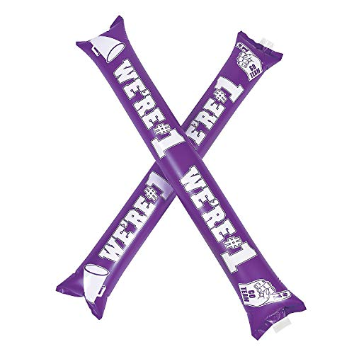 Check Out This Fun Express We're #1 Purple Boom Sticks (12 Pairs) School Spirit Noise Makers