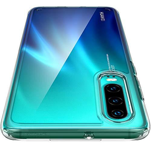 Spigen, Funda Compatible con Huawei P30 2019 [Ultra Hybrid] Tecnología de cojín de Aire y protección híbrida de la caída [Transparente] L38CS25737